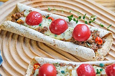 番茄牛肉卷饼