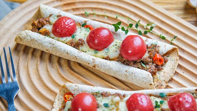 番茄牛肉卷饼的做法