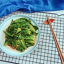 #花10分钟,做一道菜!# 豆豉油麦菜