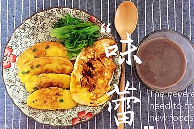 —情侣套餐·香煎馒头片+五谷杂粮豆浆