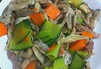 肉片炒平菇的做法