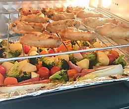少油少盐健康食,蜜汁烤翅烤蔬菜的做法