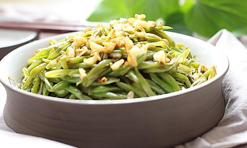 金蒜四季豆的做法