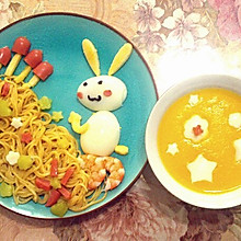 小白兔采蘑菇儿童早餐