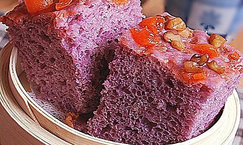 紫薯发糕的做法
