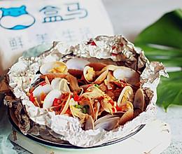 【盒马厨房】蒜香剁椒烤花甲的做法