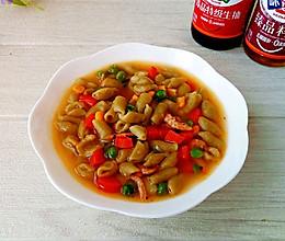 #餐桌上的春日限定#鳞虾时蔬烩茵陈麻食的做法