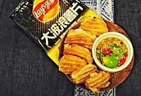 """嘻哈大笑大波浪版月亮虾饼#春节七天""""乐""""#的做法"""