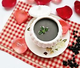 黑芝麻黑豆米糊#美的早安豆浆机的做法
