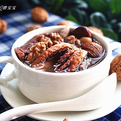 一碗热汤来暖身【核桃章鱼猪骨汤】—冬季暖身
