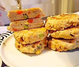 鲜虾时蔬鸡肉饼的做法