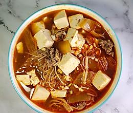 #营养小食光#辣白菜豆腐汤的做法