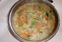 营养胡萝卜肉末粥的做法