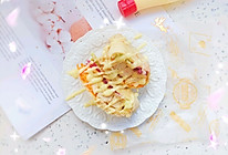 #丘比三明治#中式三明治之鸡胸肉蔬菜卷饼的做法