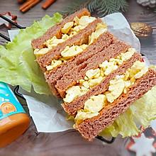 #四季宝蓝小罐#滑蛋三明治