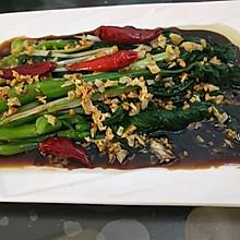 蒸鱼豉油版白灼菜心