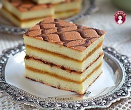 千叶纹凤梨酱夹心蛋糕的做法
