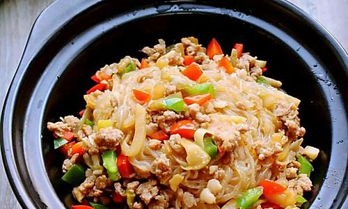 榨菜肉末粉丝煲的做法
