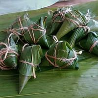 绿黍红花枣生粽的做法图解9