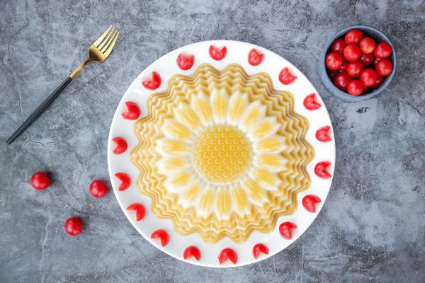 向日葵椰汁千层马蹄糕的做法