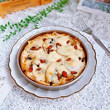 鱼丸口蘑吐司披萨#硬核菜谱制作人#