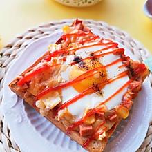 #以美食的名义说爱她#太阳蛋吐司 快手小披萨