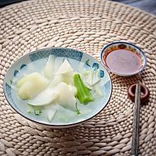 #节后清肠大作战#清水棒菜配四川蘸酱,减肥不枯燥