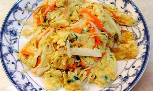 萝卜丝炒蛋的做法