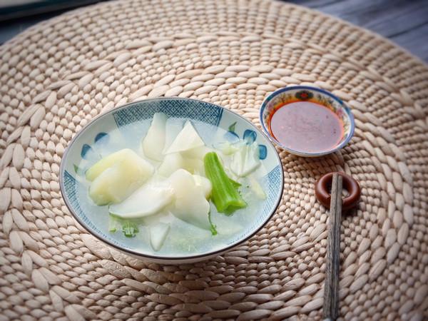 清水棒菜配四川蘸酱,减肥不枯燥的做法
