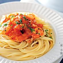 鲜虾番茄意大利面