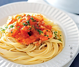 鲜虾番茄意大利面的做法