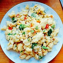 豆渣炒鸡蛋