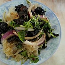 洋葱拌木耳、银耳(凉菜)