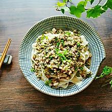 香椿肉沫拌面#花10分钟,做一道菜!#