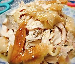 麻油手撕盐焗鸡(电饭锅版)的做法