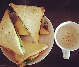 早餐三明治-不用烤箱版的做法
