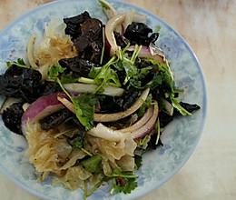 洋葱拌木耳、银耳(凉菜)的做法