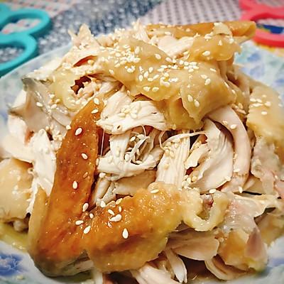 麻油手撕盐焗鸡(电饭锅版)