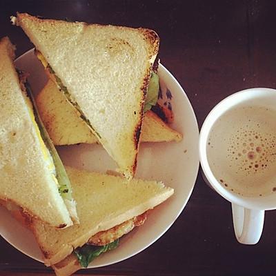 早餐三明治-不用烤箱版