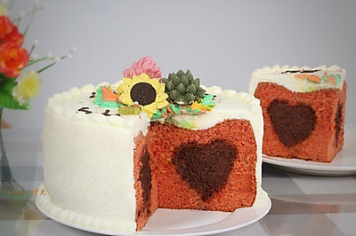 丝绒巧克力夹心蛋糕#一机多能 一席饪选#