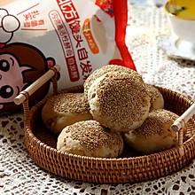 #南北面点大不同# 老北京芝麻酱烧饼
