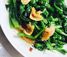 咸肉青菜苔的做法