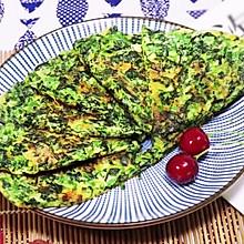 #花10分钟,做一道菜!#菠菜蛋饼