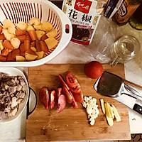 番茄土豆胡萝卜炖牛腩的做法图解1