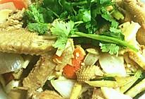 土鸡烧鲜笋的做法