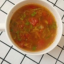 西红柿圆白菜汤