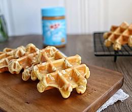 #四季宝蓝小罐#低脂早餐~花生酱华夫饼的做法