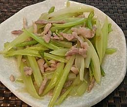 西芹炒肉丝的做法