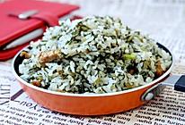 雪菜肉丝炒饭的做法