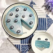 雾霾蓝千层蛋糕